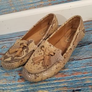 Montana Artisan Crafter Snake Print Leather Loafer